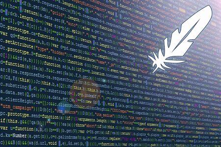 Software Developer Program Code. Abstract code of a computer program Foto de archivo