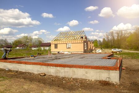 Construction of a new European-style house