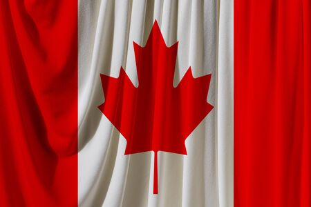 canada flag on the background texture. Concept for designer solutions.