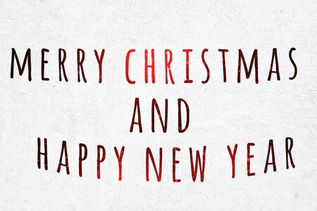 Merry christmas and happy new year Banque d'images
