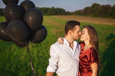 in love couple celebrating honeymoon