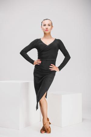 dancer in black dress
