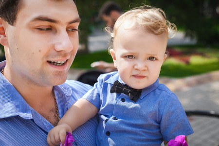 sway: happy father and his son in outdoor