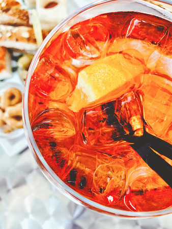 Close-Up Of Drink On Table Stock Photo