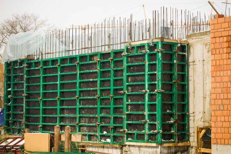 Installation construction de bâtiments coffrage