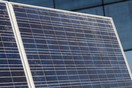 dirty: dirty solar panels Stock Photo