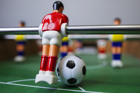 foosball table soccer .sport teame football players Reklamní fotografie - 68747279