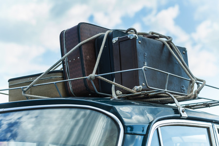 suitcase car roof