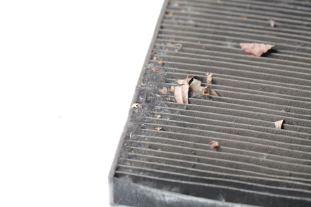 Filtro de aire sucio del coche Foto de archivo - 84110819