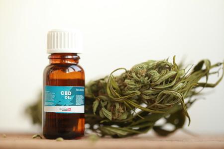 cannabis oil cbd Banco de Imagens