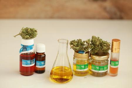 cannabis oil cbd Foto de archivo