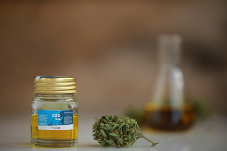 cannabis oil cbd 写真素材