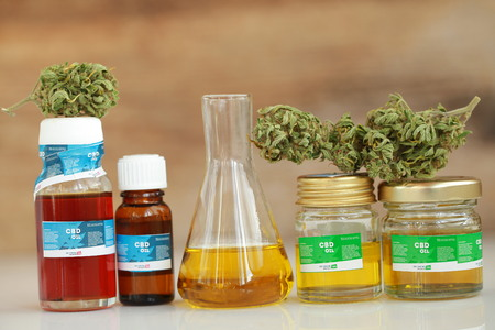 cannabis oil cbd Standard-Bild