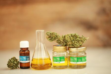 cannabis oil cbd Stock Photo
