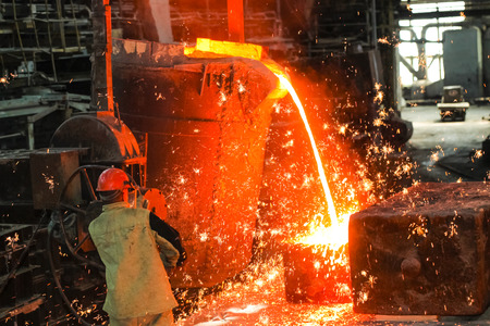 foundry metal smelting plant Stock Photo