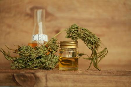 cannabis oil cbd Banque d'images