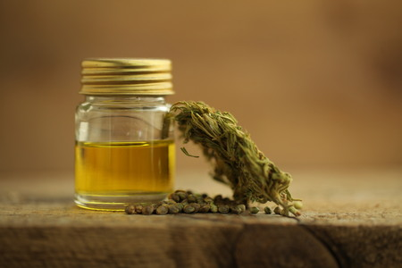 cannabis oil cbd Stock Photo