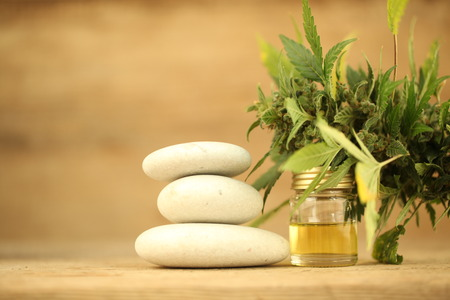 cannabis oil cbd Stockfoto