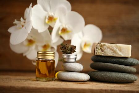 Cannabis oil medical marijuana relax concept Фото со стока