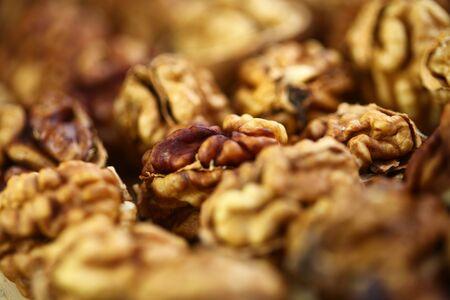 peeled whole kernels of walnuts harvest Reklamní fotografie - 132347896