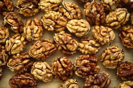 peeled whole kernels of walnuts harvest Reklamní fotografie - 132348309