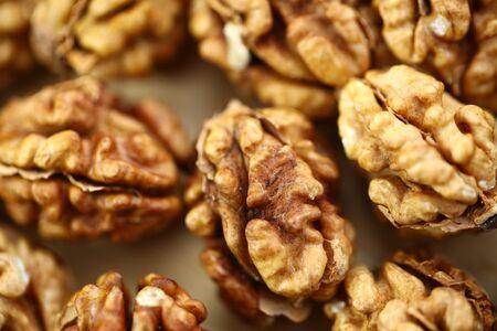 peeled whole kernels of walnuts harvest Reklamní fotografie - 132348644