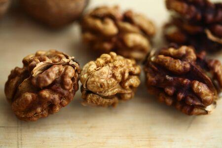 peeled whole kernels of walnuts harvest Reklamní fotografie - 132348585