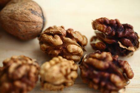 peeled whole kernels of walnuts harvest Reklamní fotografie