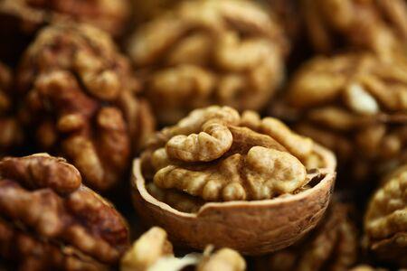 peeled whole kernels of walnuts harvest Reklamní fotografie - 132348443