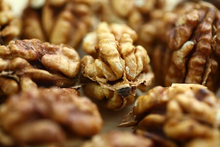 peeled whole kernels of walnuts harvest Reklamní fotografie - 132349231