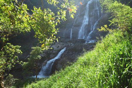 Rawana waterfall in montain Sri Lanka