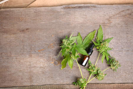 Medical marijuana cannabis cbd oil Imagens