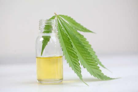 Medical marijuana, leaf cannabis, cbd oil