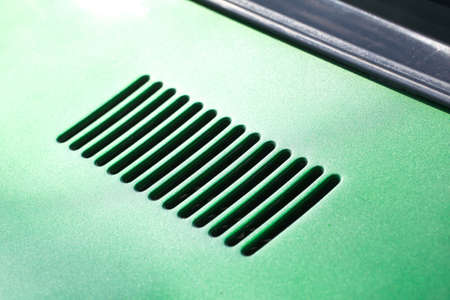 air intake grille on the body of a retro car Stock fotó