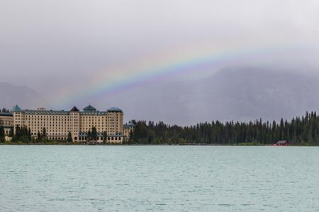 chateau: Fairmont Chateau Hotel in Lake Louise Alberta Canada Editorial