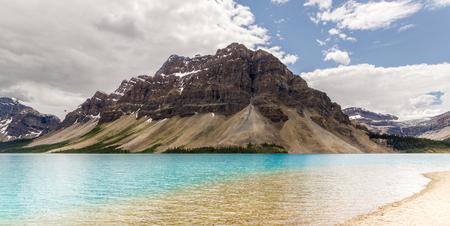 Beautiful Bow Lake at Banff National Park, Alberta, Canada