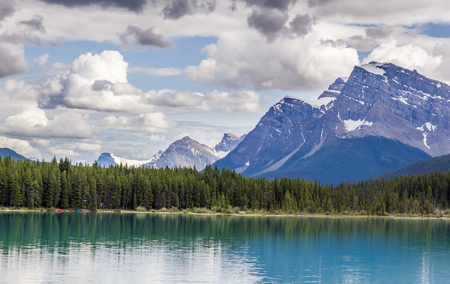Bow Lake in the Canadian Rockies, Banff National Park