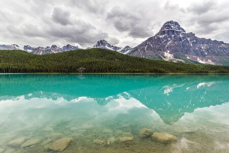 canadian rockies: Bow Lake in the Canadian Rockies, Banff National Park