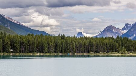 admire: Bow Lake in the Canadian Rockies, Banff National Park