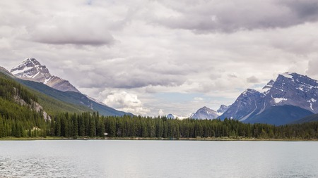 rockies: Bow Lake in the Canadian Rockies, Banff National Park