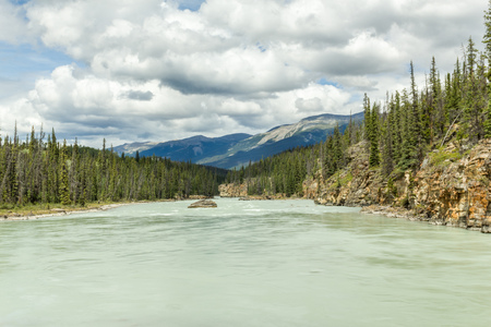 north cascade national park: Athabaska river in Jasper National Park Alberta Canada