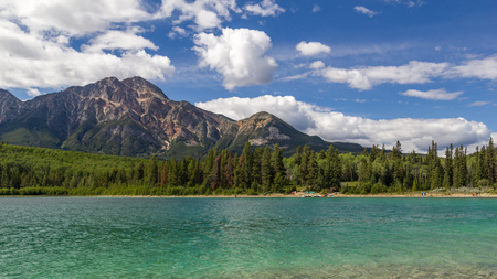 edith: Patricia Lake and Pyramid Mountain in Jasper National Park Alberta, Canada