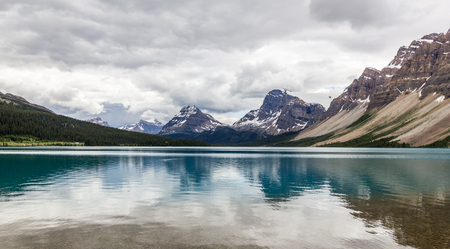 Bow Lake Icefields Parkway Banff National Park Alberta Canada Stock Photo
