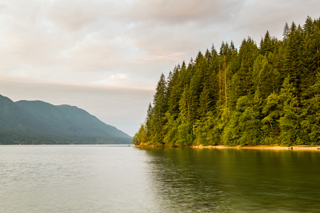 Alouette lake in Golden Ears park, Vancouver, Canada Stock Photo