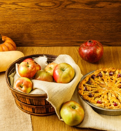 Apples for fall traditional apple pie still life