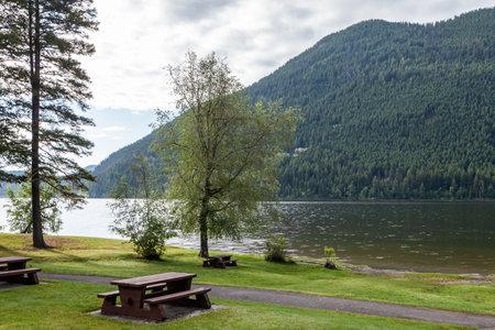Paul Lake Provincial Park picnic area Summer time british columbia canada