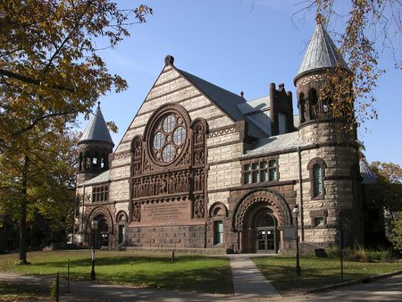 Cathedral in Princeton. Historical building in Univercity campus. Standard-Bild