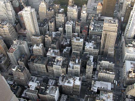 マンハッタンのエンパイアステートビルからの眺め