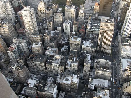 View from Empire State building on Manhattan Standard-Bild