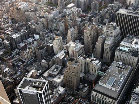 高いポイントのエンパイアステート ビルディングのマンハッタンからの眺め